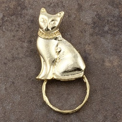 SPEC Pin Goldplated Cat Glasses Holder (Set of 3)