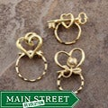 SPEC Pin Gold-plated Hearts Glasses Holders (Set of 3)