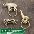 SPEC Pin Gold-plated Wild Animals Glasses Holder (Set of 3)