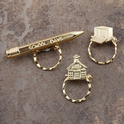 SPEC Pin Goldplated School Glasses Holder (Set of 3)