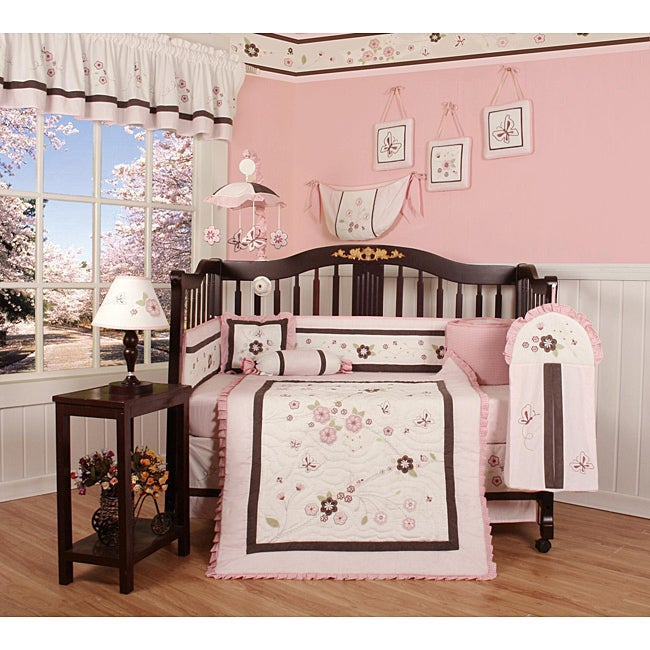 Blossom Flower 13-piece Crib Bedding Set