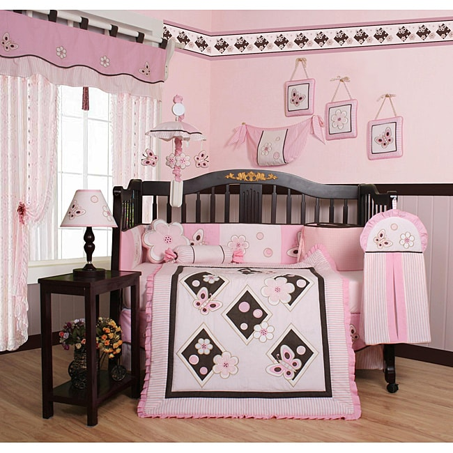 GEENNY Pink Butterfly 13-piece Crib Bedding Set at Sears.com
