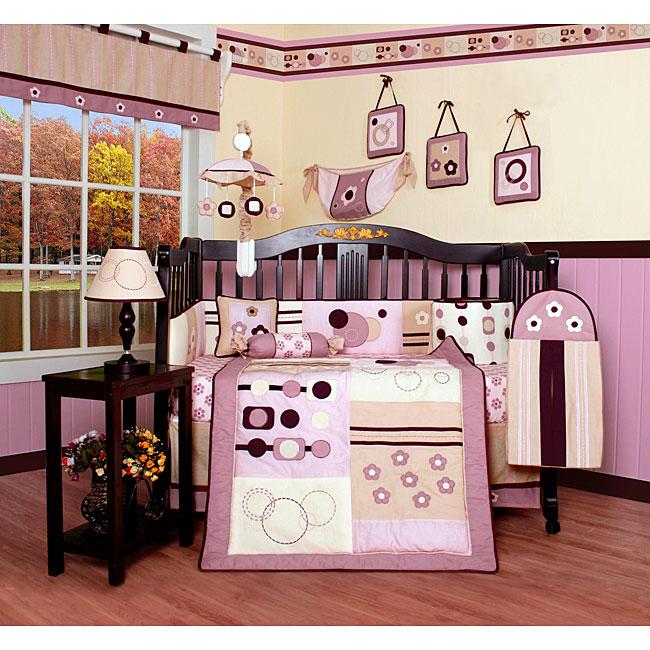 Pink Artist 13-piece Crib Bedding Set