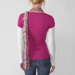 Love Always Junior's Long-Sleeve Scoop-Neck Shirt/Scarf Set