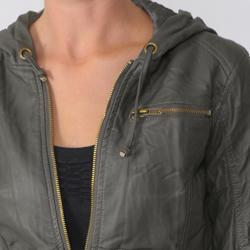 Ci Sono by Adi Junior's Zipper Detail Faux Leather Jacket