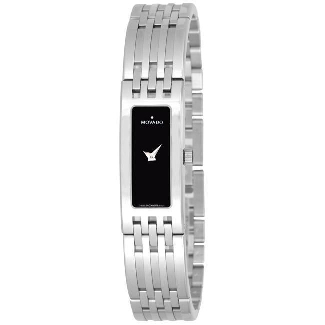 Movado Women's 0606300 'Esperanza Baguette' Stainless Steel Watch