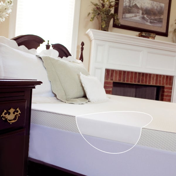 Slumber Solutions 3-inch Memory Foam Mattress Topper with Waterproof Cover