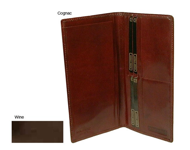 Hand Stained Italian Leathe/ Breast Pocket Secretary Wallet
