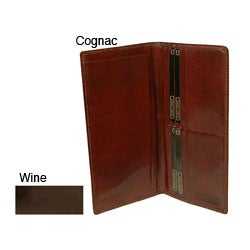 Hand Stained Italian Leathe/ Breast Pocket Secretary Wallet