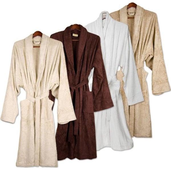 Turkish 100 Percent Organic Cotton Terry Cuffed Spa Bath Robe