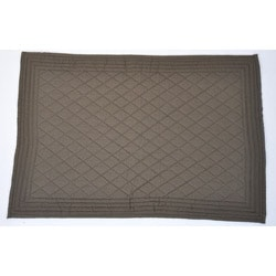 Brown Diamond Quilted Placemats (Set of 4)