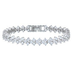 Ultimate CZ Platinum over Sterling Silver Cubic Zirconia Bracelet