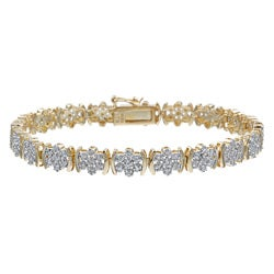 PalmBeach 18k Gold and Silver 1/4ct TDW Diamond Bracelet (I-J, I3)