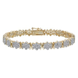 Isabella Collection 18k Gold and Silver 1/4ct TDW Diamond Bracelet (I-J, I3)