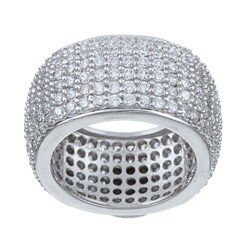 Ultimate CZ Sterling Silver Cubic Zirconia Eternity Band
