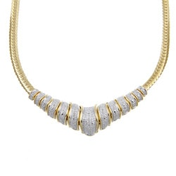 Isabella Collection 18k Gold over Silver 1/8ct TDW Diamond Chevron Necklace (H-I, I2-I3)