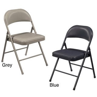 NPS Commercialine Vinyl Padded Folding Chair (Pack of 4)