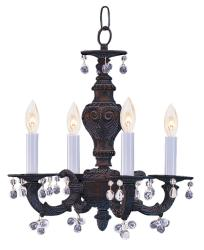 Sutton 4-light Venetian Bronze Mini Chandelier