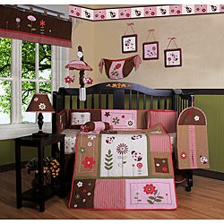 Ladybug and Flower 13-piece Crib Bedding Set