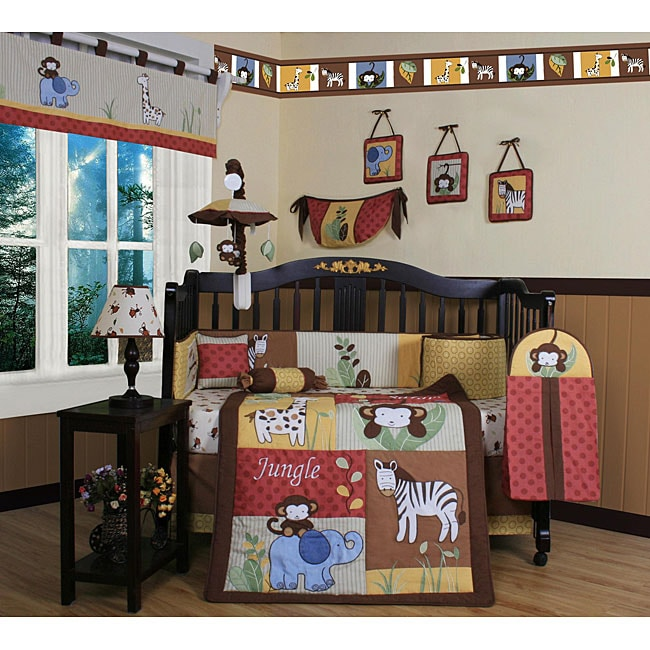 Amazon Jungle 13-piece Crib Bedding Set