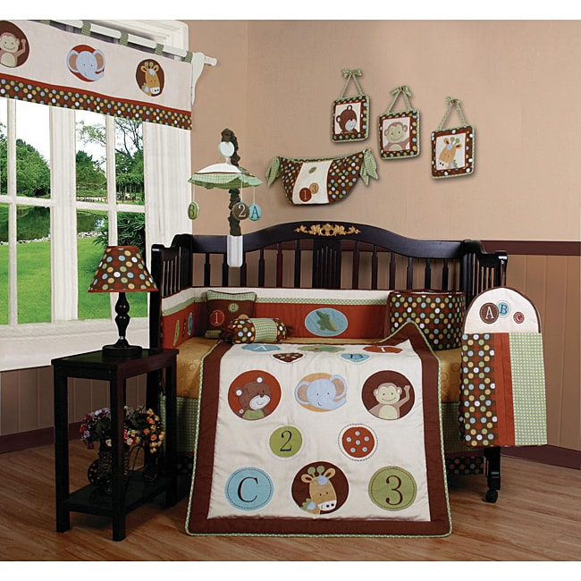 Animal Scholar 13-piece Crib Bedding Set