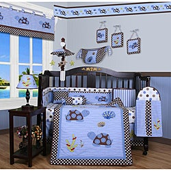 Geenny Sea Turtle Animals 13-piece Crib Bedding Set