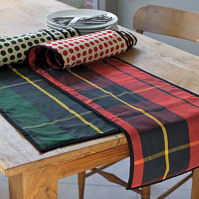 Holiday Plaid ReversibleTable Runner