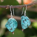 Magnesite 'Song of the Sky' Dangle Earrings (Thailand)