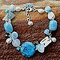 Pearl and Aquamarine 'Blue Islands' Beaded Bracelet (Thailand)