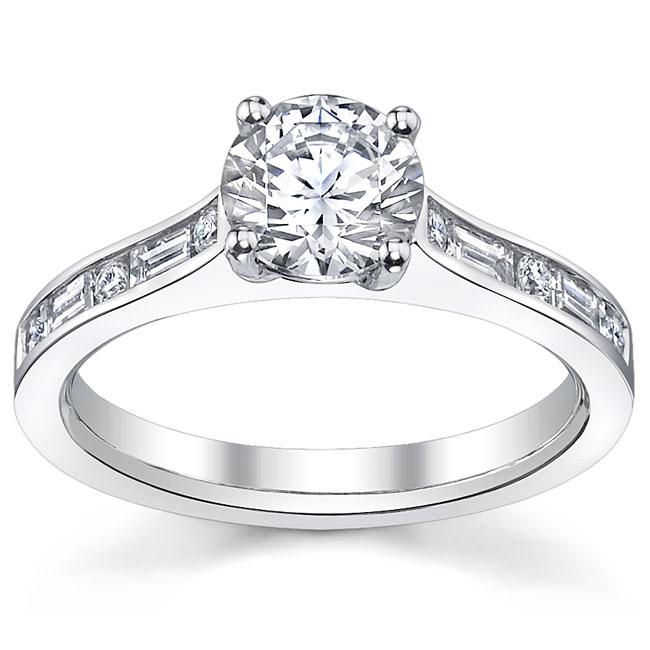 14k White Gold 1 1/3ct TDW Certified Diamond Engagement Ring (H, SI1-SI3)