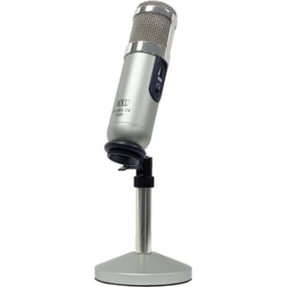 MXL MXLSTUDIO24USB Studio 24 24-bit USB Microphone with User Interface Program Silver/Nickel