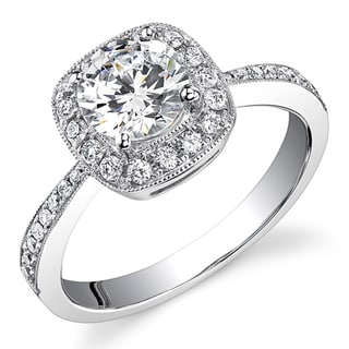 18k White Gold 3/4ct TDW Diamond Engagement Ring (H, SI1-SI2)