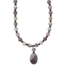 Botswana Agate and Crystal Necklace