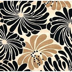 Alliyah Handmade Beige New Zealand Blend Wool Rug (6' x 6')