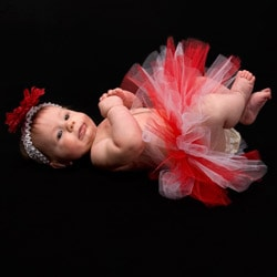 My Princess Tutus Red and White Candy Cane Baby-size Tutu