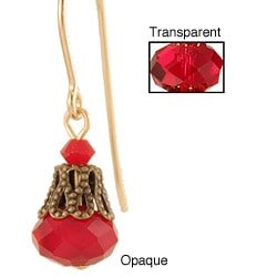Gold Fill 'Ravishingly Red' Crystal Earrings