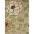 Hand-tufted Metro Floral Green Wool Rug (8' x 10')