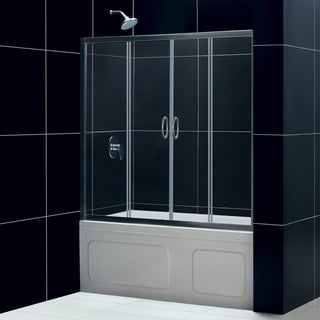 DreamLine Visions Frameless 56-60 x 58-inch Sliding Tub Door