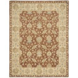 Safavieh Handmade Farahan Brown/ Taupe Wool Rug (6' x 9')