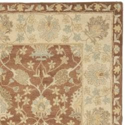 Safavieh Handmade Farahan Brown/ Taupe Wool Rug (7'6 x 9'6)