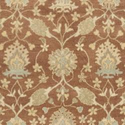 Handmade Farahan Brown/ Taupe Wool Rug (7'6 x 9'6)