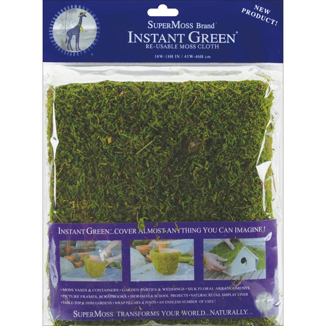 Green Rectangular Reusable Moss Mat for House and Outdoor Plants