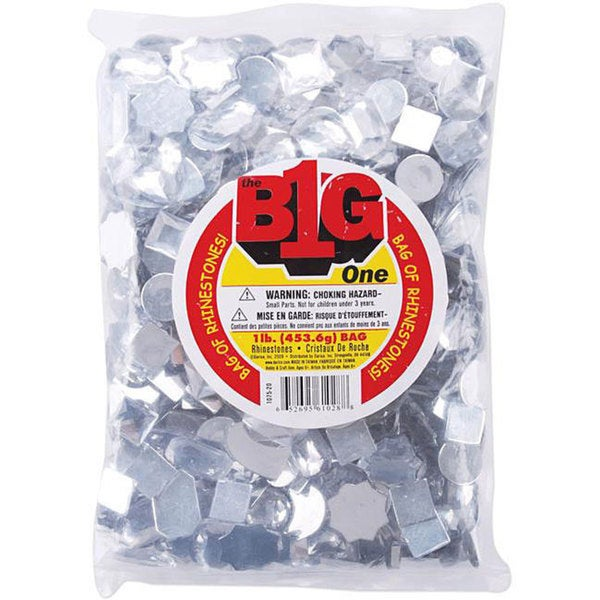 Assorted Clear Rhinestone Shapes (1 Pound)
