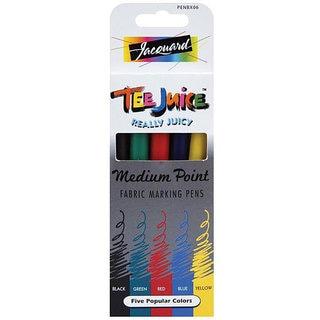 Tee Juice Medium Point Fabric Marker Pens (Pack of 5)