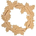 Beyond The Page MDF Holly Wreath