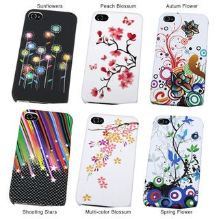 INSTEN Premium Apple iPhone 4 Rubber Coated Phone Case Cover