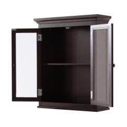 Classique Espresso 2-door Wall Cabinet by Elegant Home Fashions