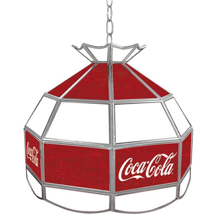 Coca-Cola Stained Glass 16-inch Tiffany Lamp