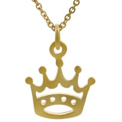 Tressa Sterling Silver Vermeil-style Crown Necklace