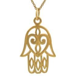 Tressa Sterling Silver Vermeil-style Hamsa Hand Necklace